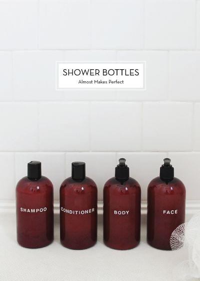 10 MAY DIYS – Shower Bottles