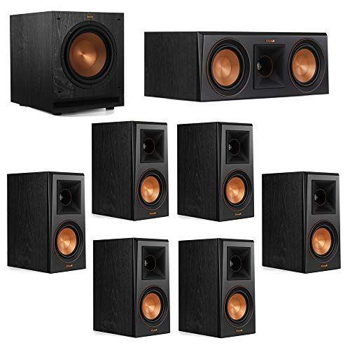 Klipsch 7 1 System with 2 RP-500M Bookshelf Speakers, 1