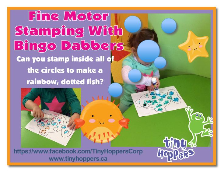 Fine Motor Stamping With Bingo Dabbers - Tiny Hoppers