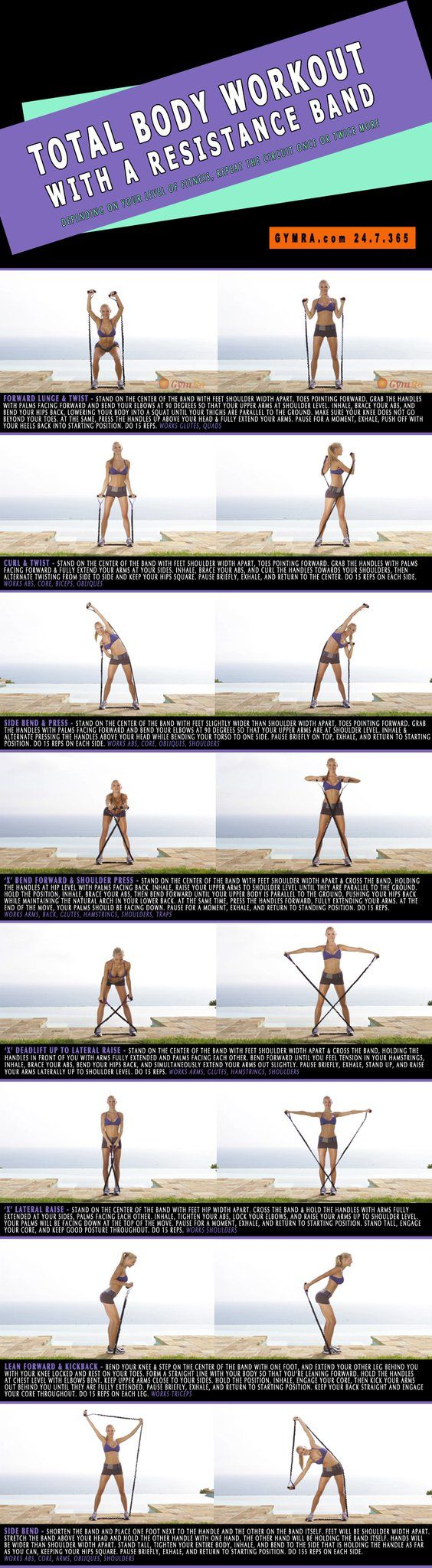 Total Body Workout with a Resistance Band. Slash major calories and llir.biz/az?bnNGa