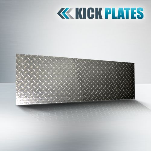 Get diamond plate kick plate which ensures protection to your doors and walls. Buy now - http://www.steelguards.ca/46-x22-1-4-ga-diamond-plate-kick-plate