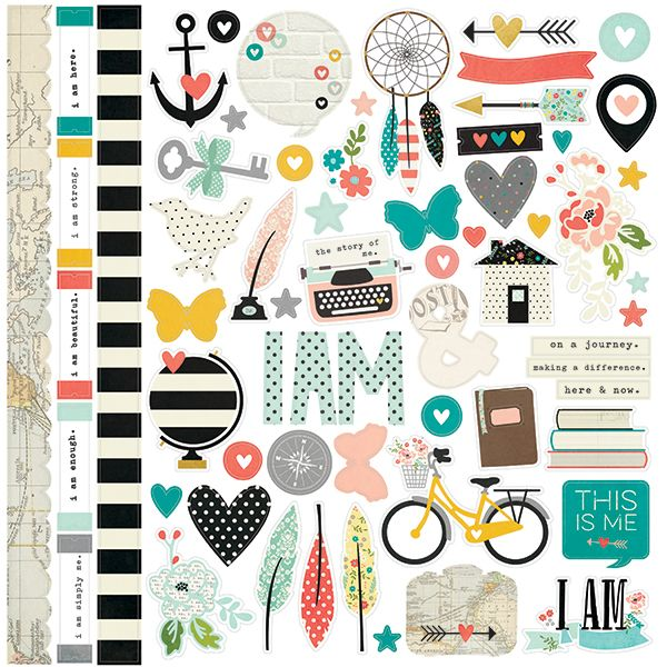 Simple+Stories+-+I+AM+Collection+-+12+x+12+Cardstock+Stickers+-+Fundamentals+at+Scrapbook.com