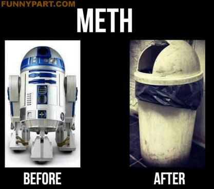Effects of Meth R2D2 Funny Picture