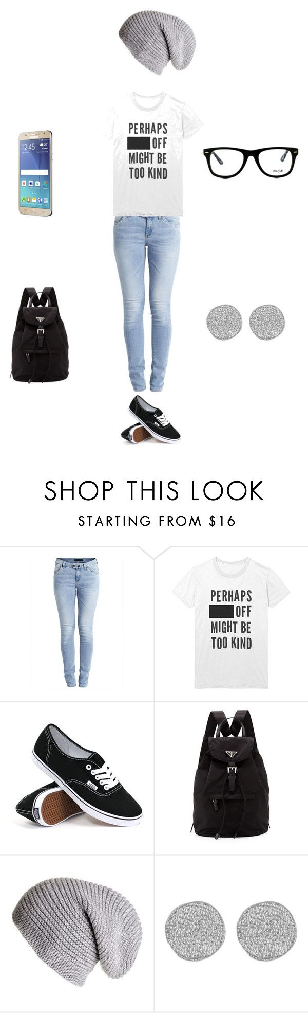 """For Katelyn"" by roxas-lightwood ❤ liked on Polyvore featuring Object Collectors Item, INDIE HAIR, Vans, Samsung, Prada, Karen Kane and Muse"