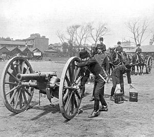 The Ordnance BL 12 pounder 6 cwt provided the main British firepower during the Second Boer War