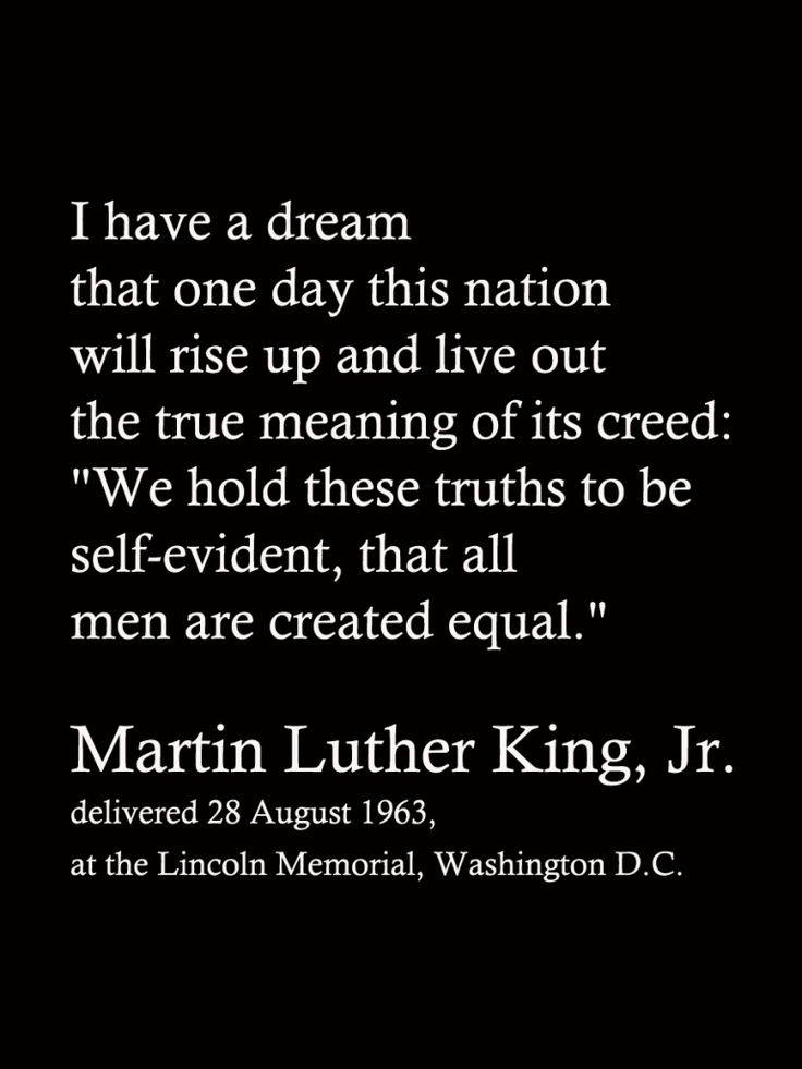 I Have a Dream MLK Jr. Quote FIller Card