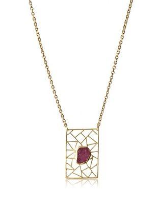 70% OFF Zariin Ruby Block Necklace