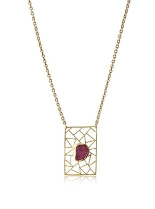 70% OFF Zariin Ruby Block Necklace