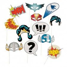 """Photo Booth Props """"Super Hero"""""""