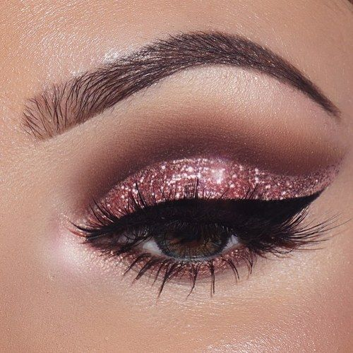 pink sparkly eye makeup