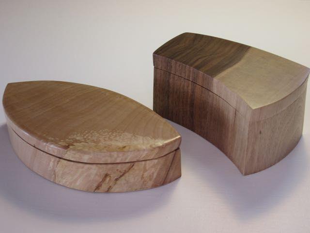 Bandsaw boxes, Bob McQueen