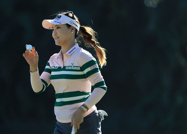 So Yeon Ryu of South Korea reacts to her putt during the final round of the CME Group Tour Championship at Tiburon Golf Club on November 20, 2016 in Naples, Florida.