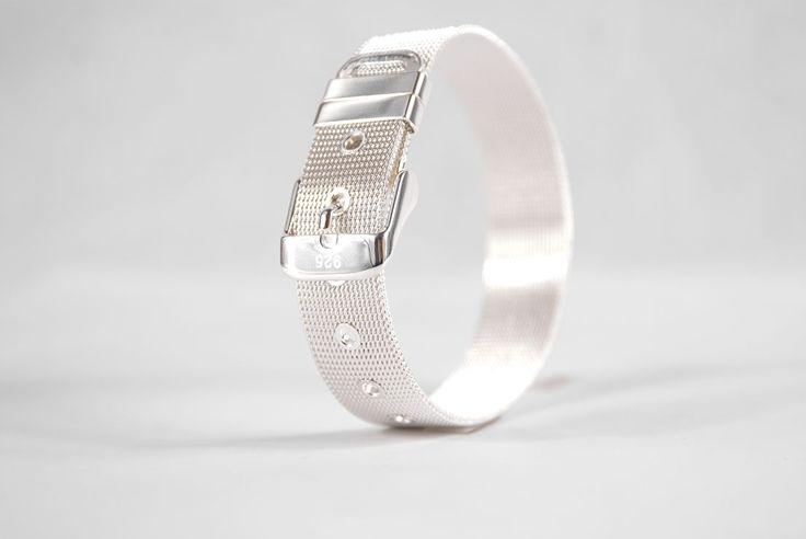 Belt Bracelet in Silver - Golden Eight