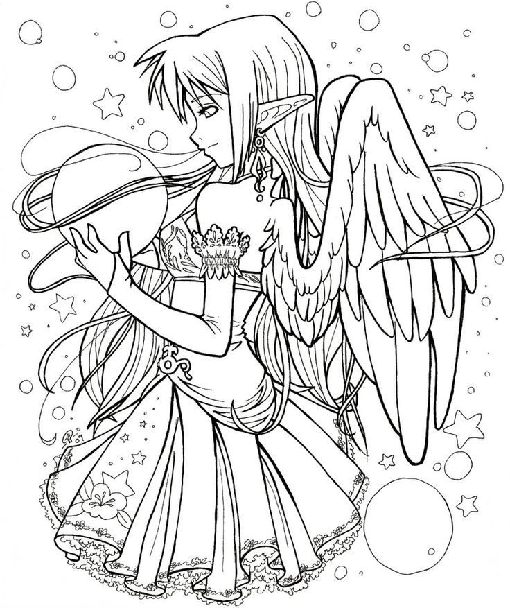 Elf angel - Art trade by *angelnablackrobe on deviantART