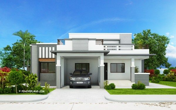 Four Bedroom Modern House Design Pinoy Eplans Modern Bungalow House Modern Bungalow House Design Bungalow House Plans