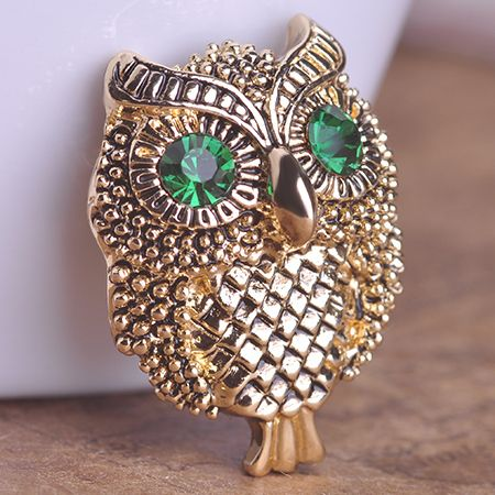 Vintage Cool Owl Broche Only $9.96  => Save up to 60% and Free Shipping => Order Now! #Ring #Jewelry #woman #fashion