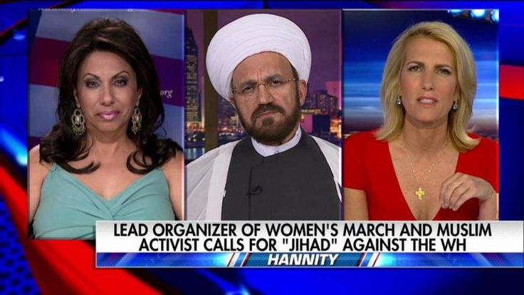 """Laura Ingraham argued with a Muslim Imam over Linda Sarsour, the Palestinian-American progressive activist who called for a """"jihad"""" against President Trump."""