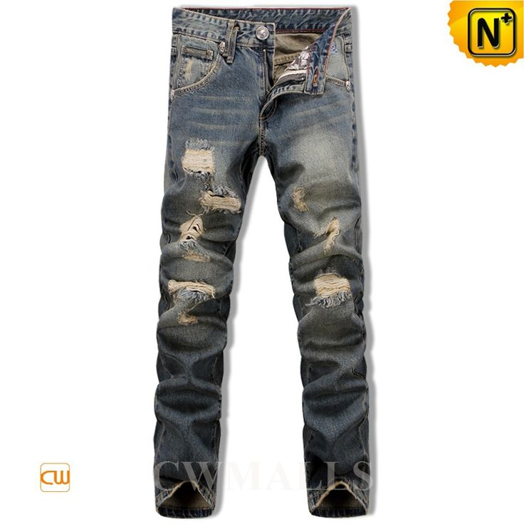 CWMALLS Mens Destroyed Skinny Jeans CW106133 Fashion men's destroyed jeans in blue 100% cotton denim with distressed, designer skinny jeans designed in destroyed and patchwork detail and five pockets. www.cwmalls.com PayPal Available (Price: $108.89) Email:sales@cwmalls.com