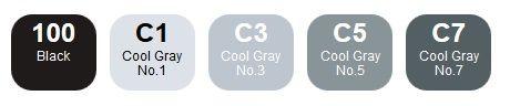 COPIC ciao Set 5+1 Grey