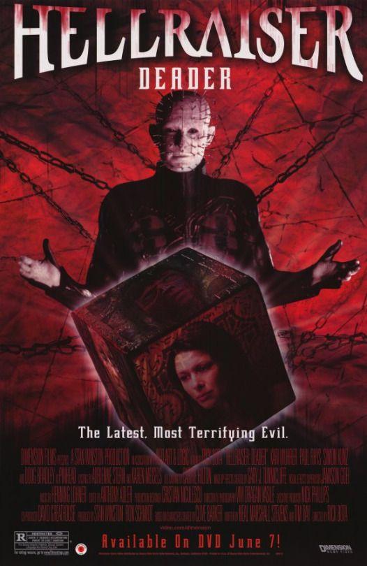 Hellraiser: Deader (2005)  Dir. Rick Bota   Kari Wuhrer, Paul Rhys, Simon Kunz