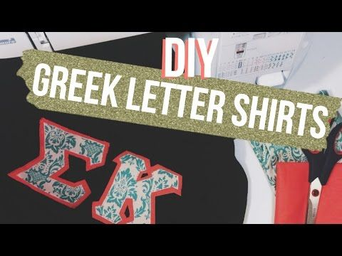 DIY Greek Letter Shirts | Dana Jean - YouTube
