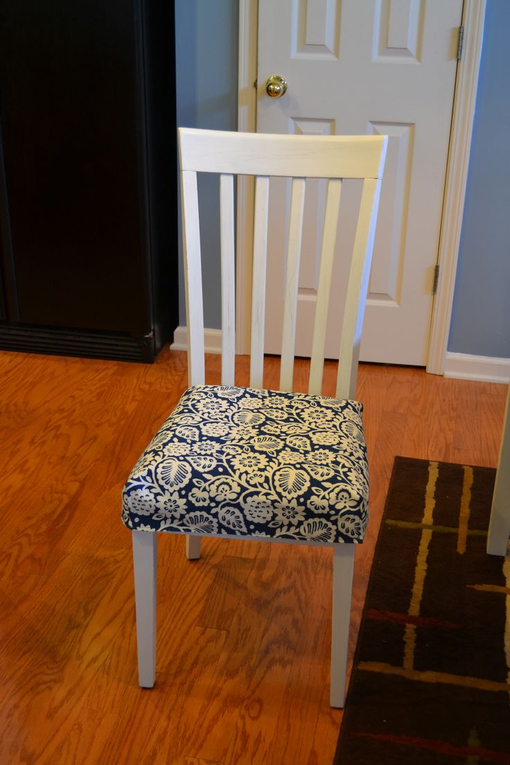 cute kitchen chair cushion tutorial