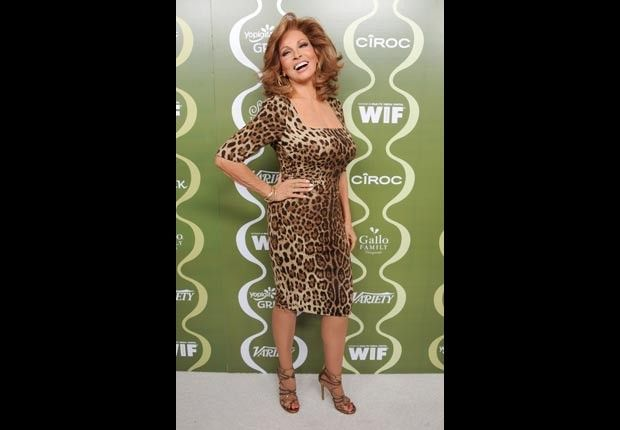 Raquel Welch, 74 (2014)  En español | She's been an icon since she appeared in that furry prehistoric-style bikini in the 1966 film One Million Years B.C. Welch split from her fourth husband years ago. With her first, she has a son, Damon, and a daughter, Tahnee, also an actress.   Birthday: September 5, 1940  Getty Images