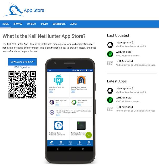 Kali NetHunter App Store The New Android Store Dedicated