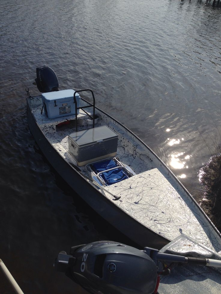My riverhawk b60 front casting deck and yeti cooler as a for Fishing platform boat