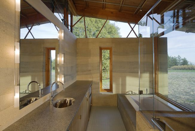 rammed earth walls are stunning  ::  Bodega Residence, Cutler Anderson Architects