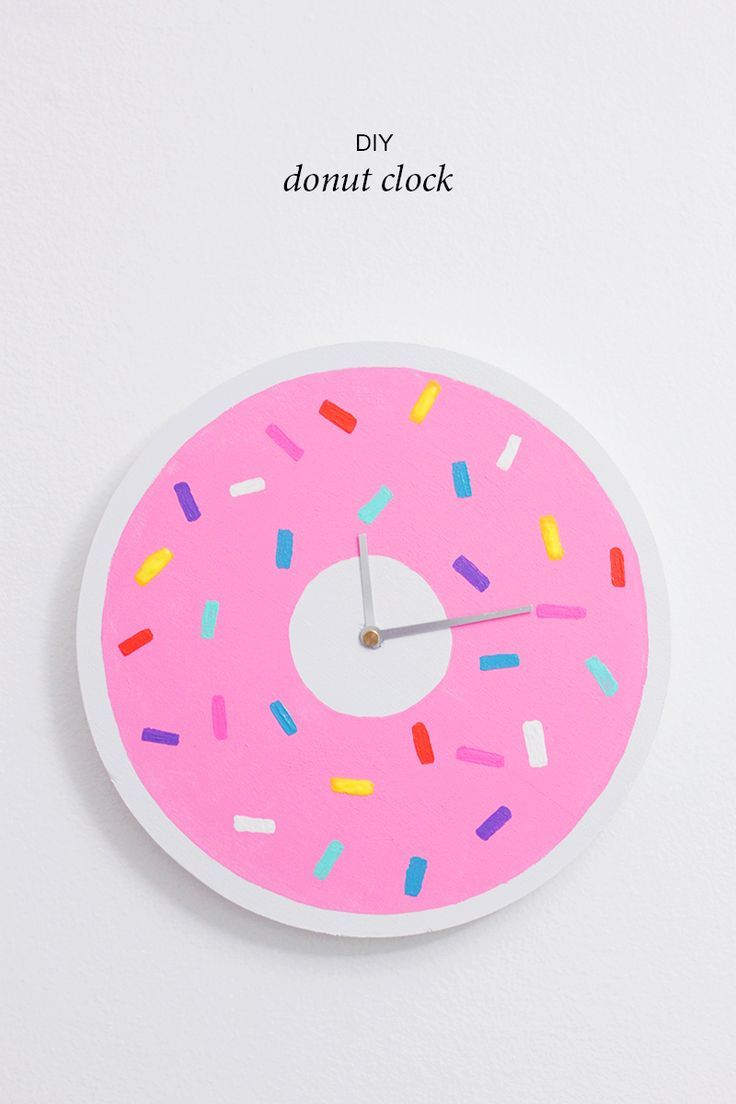 510 best clock faces images on pinterest wall clocks clock diy donut clock why dont you make me amipublicfo Image collections
