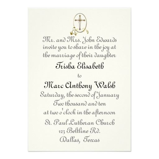 Religious Wedding Invitation