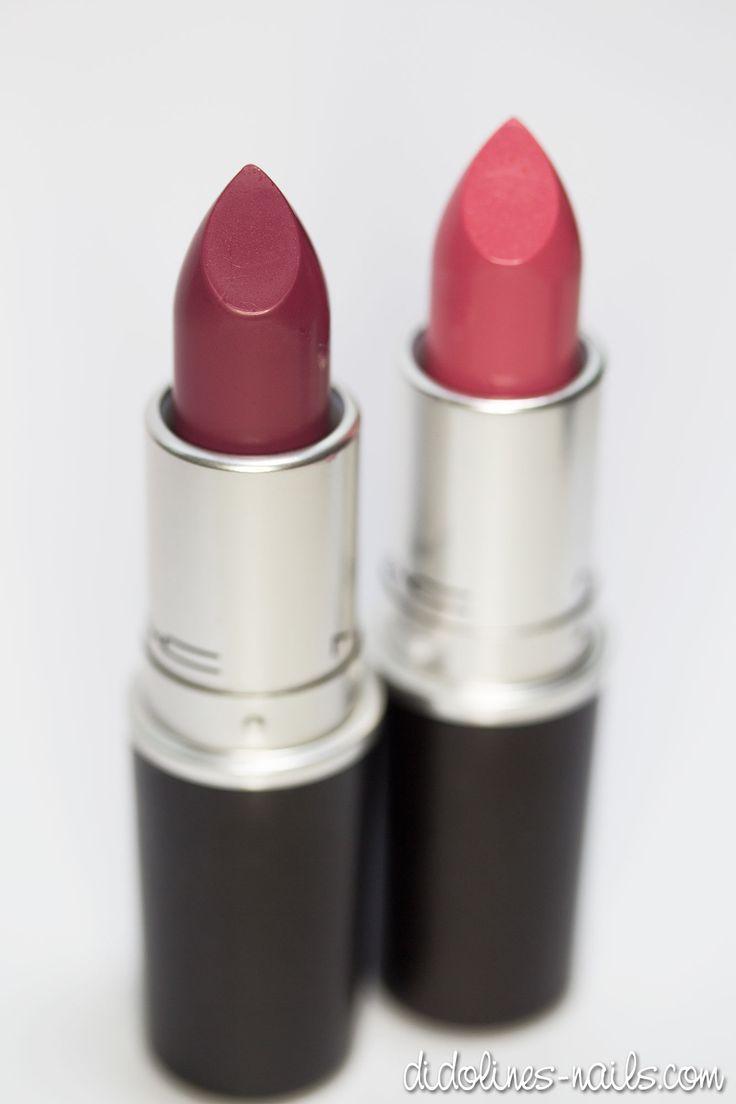 Mes deux rouges à lèvres Mac du mois sont Captive et Chatterbox :) N'hésitez pas à cliquer pour voir les swatches !