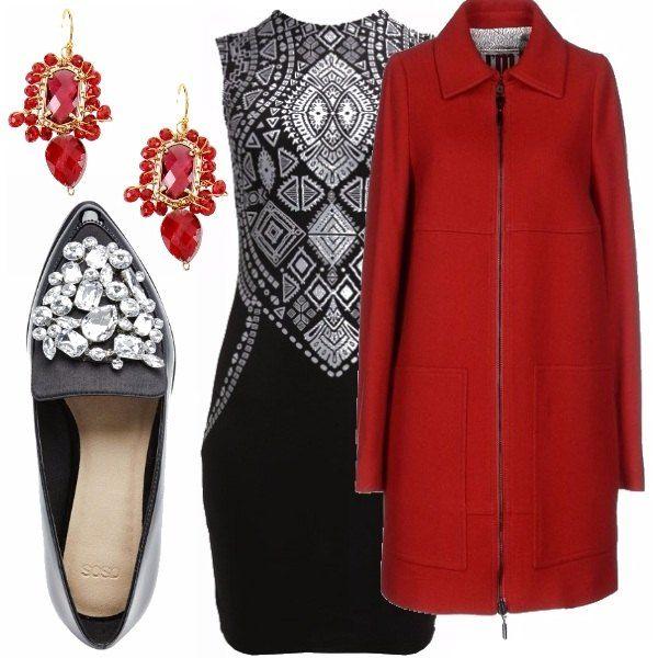 Il classico abbinamento bianco e nero viene spesso smorzato da capi a tinte forti, come il rosso. In questo outfit ho cercato di seguire questa tendenza abbinando un vestitino bianco e nero ad un cappottino rosso. Ideale per le feste e non solo. Che ve ne pare?