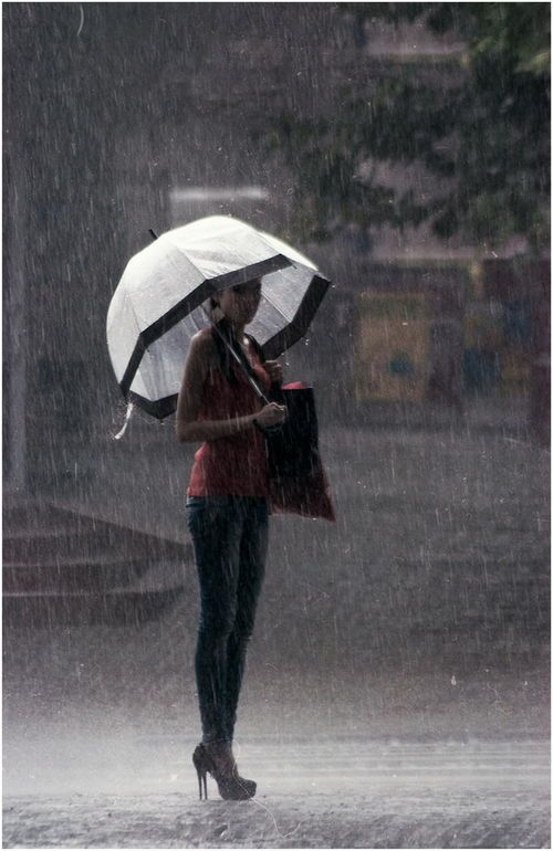 Umbrella in the rain   www.Skymosity.com