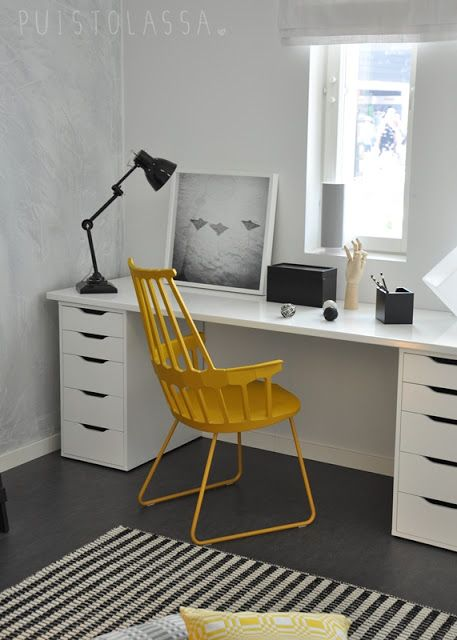 Via Puistolassa | Home Office | Black White Yellow