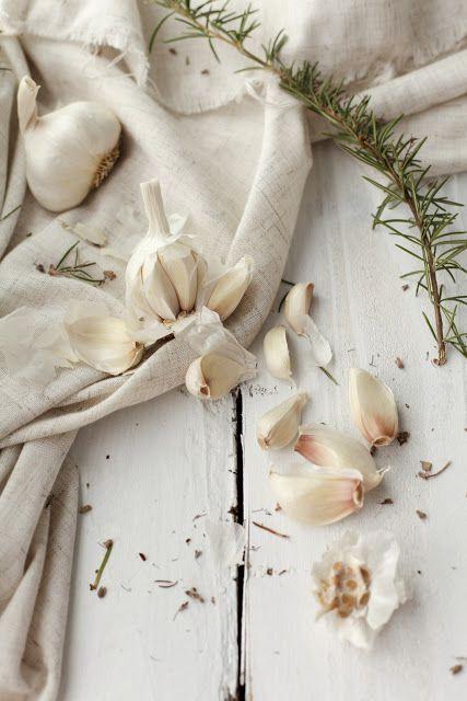 Garlic and rosemary.