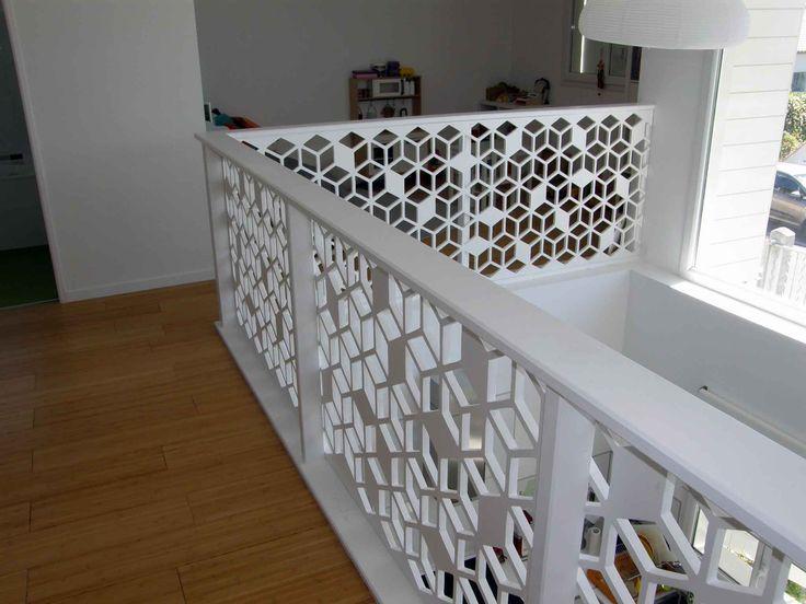 Claustra d'intérieur en garde-corps d'escalier                                                                                                                                                     Plus