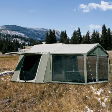 Cabelas Kodiak Canvas Cabin Tent With Awning
