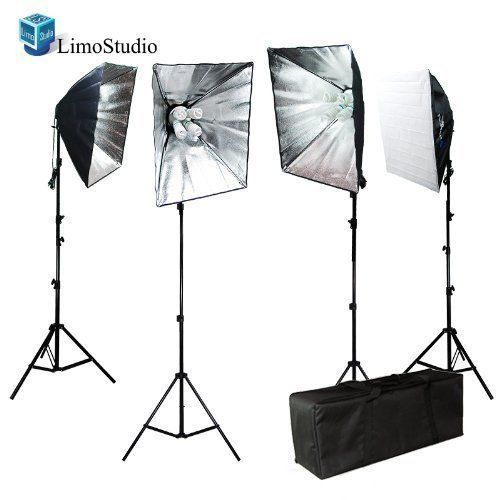 Limo3200W Photo Video Softbox Lighting Light Kit With Carrying Case For Product