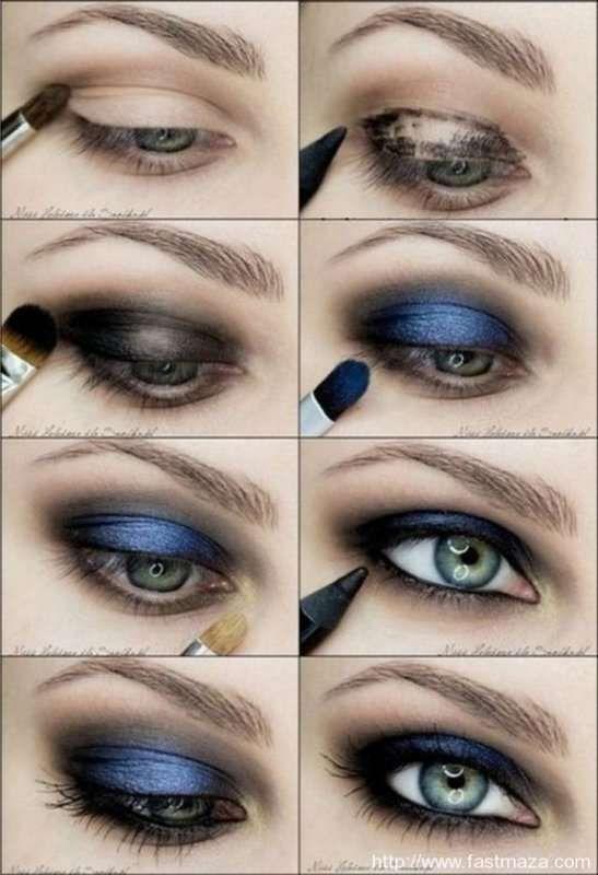 Mavi gözler için makyaj teknikleri