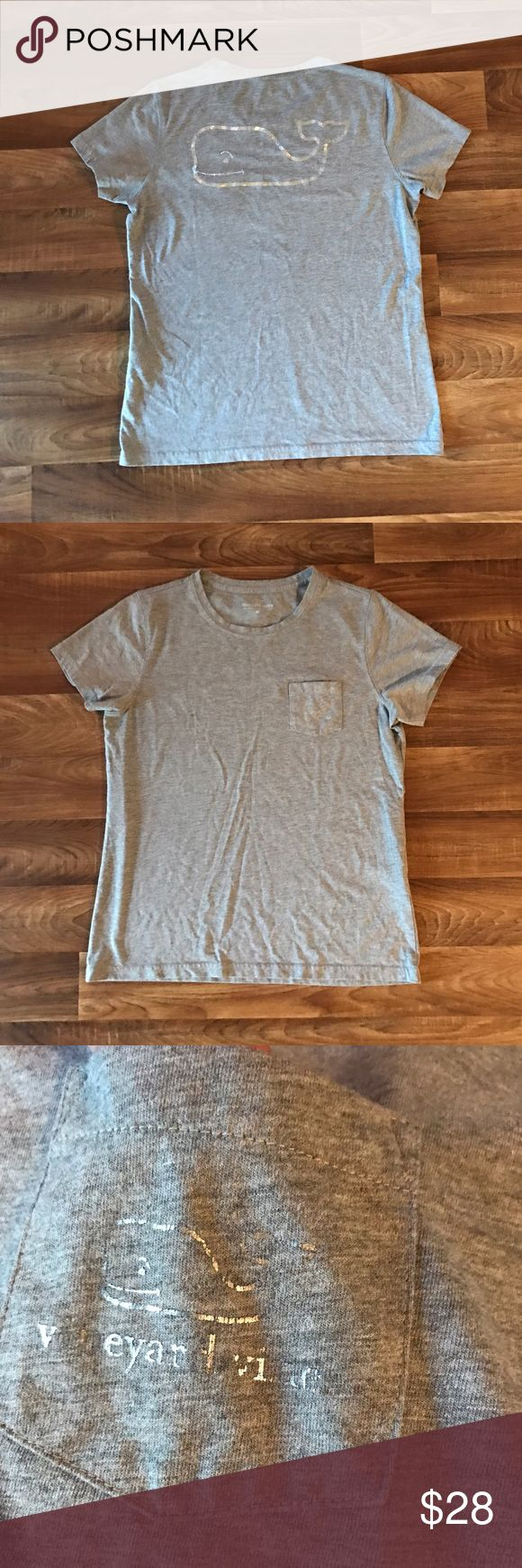 > NWOT - Vineyard Vines: Classic Pocket Tee! < NEW - NEVER WORN   > Vineyard Vines - Classic Pocket Tee <   -COLOR: Heather Gray  -Classic Pocket Tee (WOMEN'S)  -NEVER WORN  -Heather gray and logo is distressed looking , color is silver (logo)   -PLEASE READ ABOVE RULES-  Happy Poshing!! ✌🏻 Vineyard Vines Tops Tees - Short Sleeve