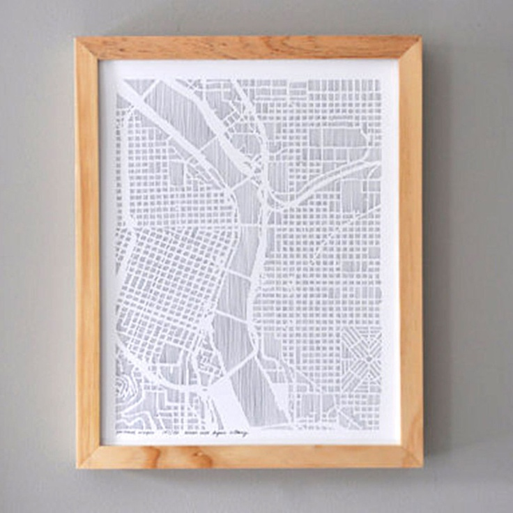 Karen Ou0027Leary Hand Rendered Maps Portland City
