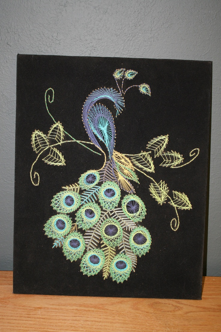 Peacock string art 164 best String Art