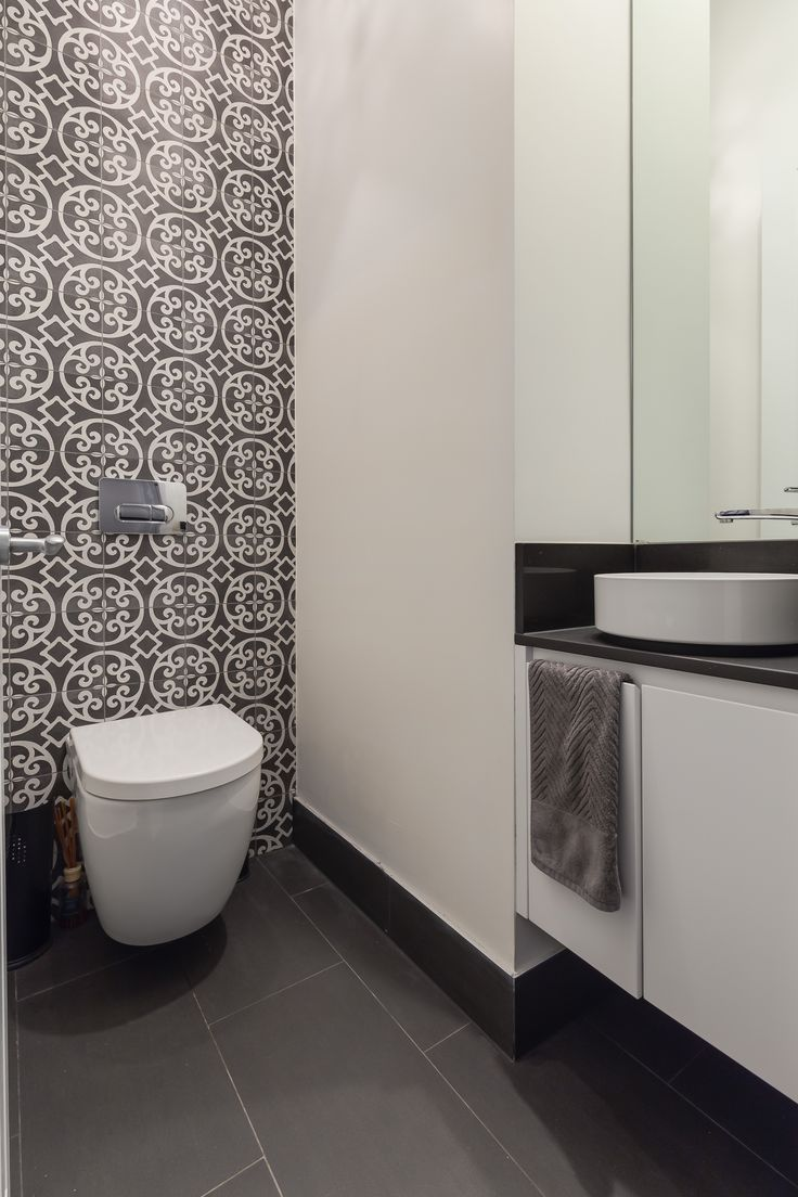Boring Toilet area? Have you ever thought about a splash back? #innovativethinking #interiordesign #Synergy_BD