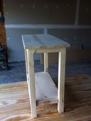 The Quaint Cottage: DIY Simple End Table for Small Spaces