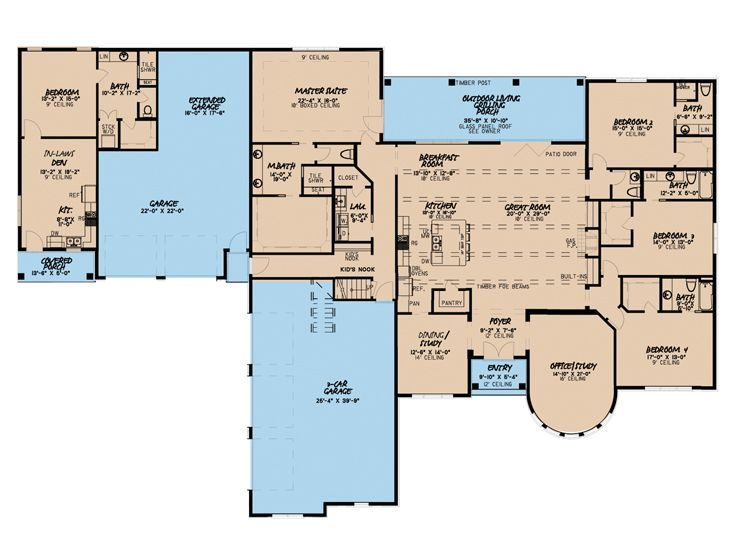 Plan 074h 0065 The House Plan Shop In 2020 French Country House Plans French Country House Country House Plan