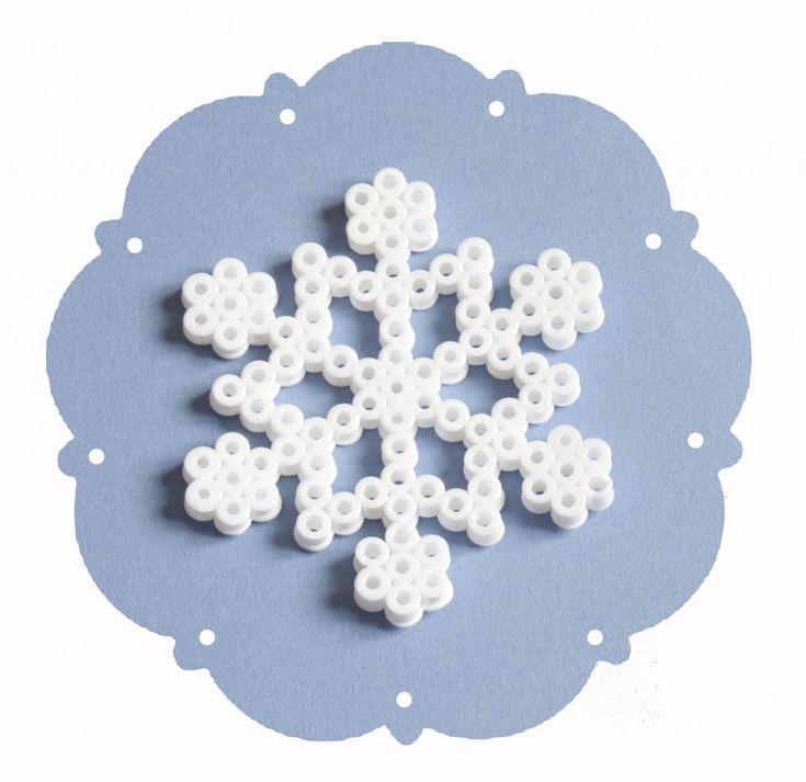 Flocon de neige en perle Hama