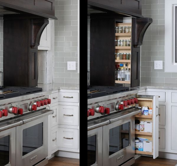 Hidden Shelves Home Kitchens Timber Frame Barn Kitchen