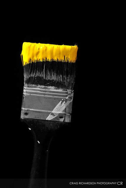 Paint brush with yellow paint--amazing. Photo by Craig Richardson